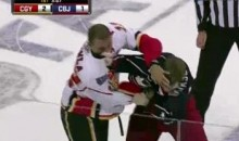 Frozen Fisticuffs Fight Of The Night – Iginla And Dorsett Do Battle – 10/22/10