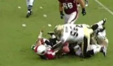 Cards' Rookie QB Max Hall Gets Jacked Up (Video)