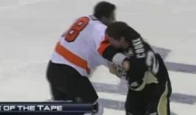 Frozen Fisticuffs Fight Of The Night -Two From The Penn State Rivalry -10/29/10