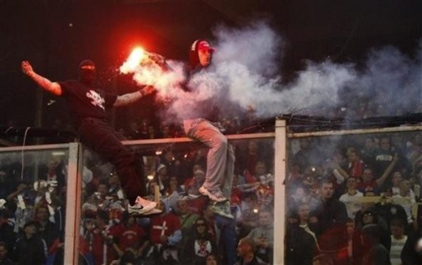 serbia italy hooligans