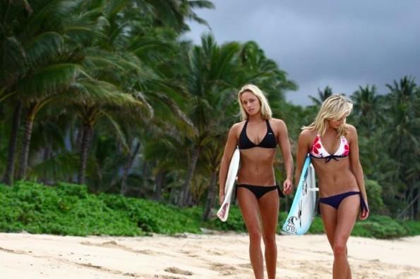 surfing hotties