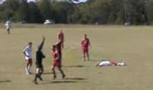 A Flying Clothesline Is Hardly A Clean Soccer Tackle (Video)