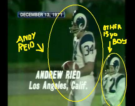 Andy Reid Was On Giant 13-Year-Old Boy