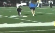 High School Girls Streak During Football Game (Video)