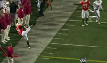 Is This The Greatest Interception Ever? (Video)