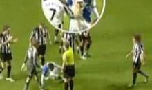 Newcastle's Joey Barton Punches Morten Gamst Pedersen In The Gut (Video)