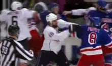 Sean Avery's Antics Spark A Massive Brawl Between The Oilers and Rangers (Video)