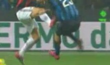 Zlatan Ibrahimovic Deliver's Kung-Fu Kick To Marco Materazzi During Milan Derby (Video)