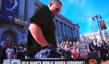 Giants' Aubrey Huff Unleashes The Rally Thong During Victory Parade (Video)