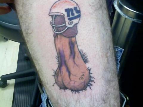 giants helmet penis tattoo