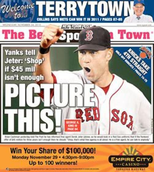 jeter as a red sox