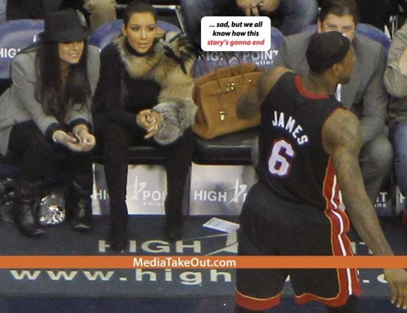 kim k and lebron