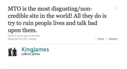 lebron angry tweet