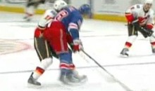 Marc Staal Rocks Matt Stajan With Hard Open-Ice Hit (Video)