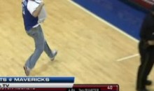 Mavs Fan Hits Half-Court Shot, Wins $10K, Gives It To The Rockets Bench (Video)