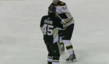 Frozen Fisticuffs Fight Of The Night — Three From The Bruins vs. Pens — 11/10/10