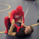 red man grappling