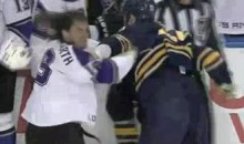 Frozen Fisticuffs Fight Of The Night – Westgarth And Gaustad Exchange Uppercuts – 11/19/10