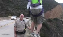 BASE Jumper Eludes Cops, Jumps Off Bixby Bridge (Video)