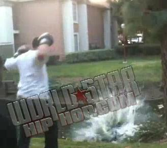 backyard boxing results in pond knockout allow us to explain video