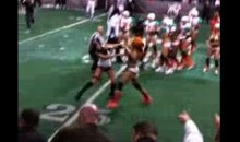 Crotch-Rubbing Taunt Sparks Lingerie Football League Brawl (Video)