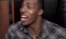 Dwight Howard Mocks Derek Anderson's Press Conference (Video)