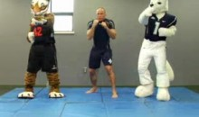 Georges St. Pierre Teaches Mascots Some MMA (Video)