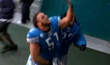 "Lions' Center Dominic Raiola Tells Fans To ""Suck His…"" (Video)"