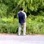 Out-Of-Control Car Narrowly Misses Urinating Man (Video)