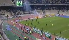 Panathinaikos Chased Off The Pitch By Their Own Fans (Video)