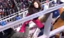 Patriots' Stripper Fan Performs A Dance For The Boys (Video)