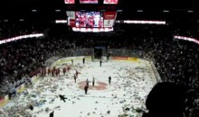 Calgary Hitmen Fans Shower The Ice With Teddy Bears (Video)