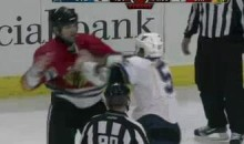 Frozen Fisticuffs Fight Of The Night – Three From The Blues vs. Blackhawks – 11/30/10