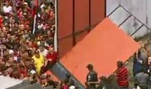 Flamengo Fans Bust Through Wall To Welcome Ronaldinho (Video)