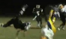 High School Player Gets Jacked Up!