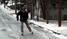 Ice Skating Through The Streets Of Atlanta (Video)
