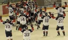 Kamloops Blazers Bring Back The EA Sports NHL 94 Celebration (Video)