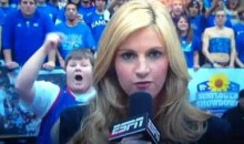 Kansas Fan Reminds Us All That Erin Andrews Is Hot (Video)