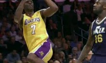Lamar Odom Hits A Circus Shot Against The Jazz
