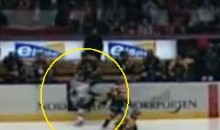 Swedish Goalie's Cheap Shot Leaves MODO Player Injured (Video)