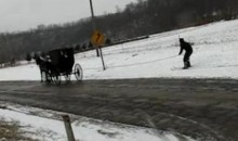 This Is What An Amish Ski Adventure Looks Like (Video)