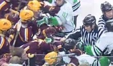 Zero Punches Thrown During Bench-Clearing NCAA Hockey Brawl (Video)