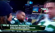 How Rude! DeSean Jackson Interrupts Aaron Rodgers' Interview With Pam Oliver (Video)