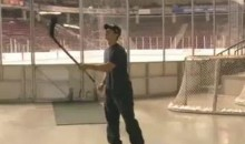 Sidney Crosby's Stick Catches Pucks Like A Glove (Video)