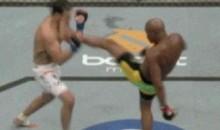 Anderson Silva Front Kick KO (GIF)