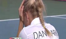 Caroline Wozniacki Takes A Ball To The Face…Not As Sexy As It Sounds (Video)