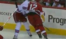 No Brotherly Love Here: Eric Staal Crushes Brother Marc (Video)