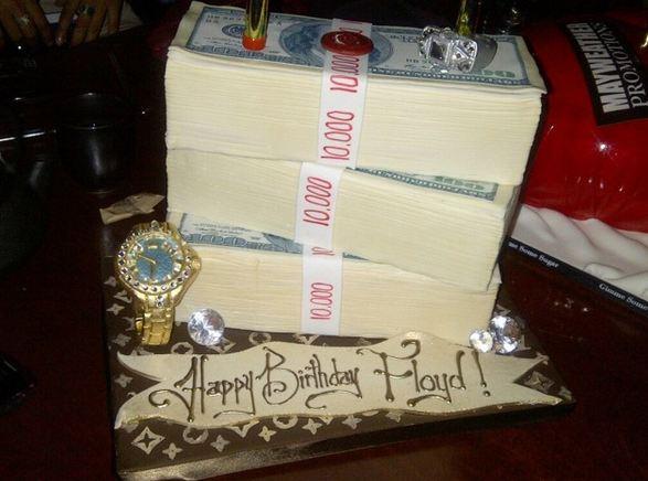 Mayweather Birthday Cake