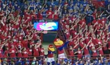 Kansas Fans Perform Flash Mob Dance At Men's Basketball Game (Video)