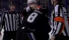 Frozen Fisticuffs Fight Of The Night — Van Riemsdyk To The Rescue — 2/15/11